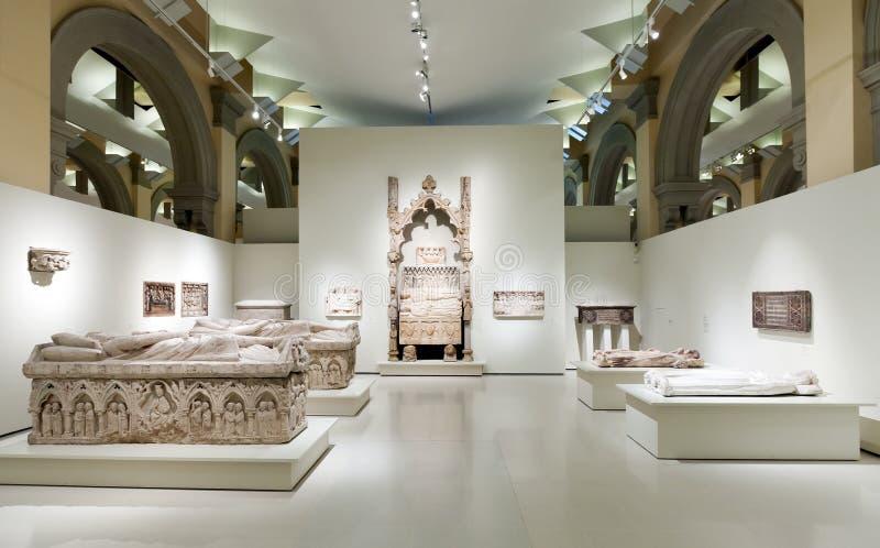 Tombes au hall gothique médiéval d'art photo libre de droits