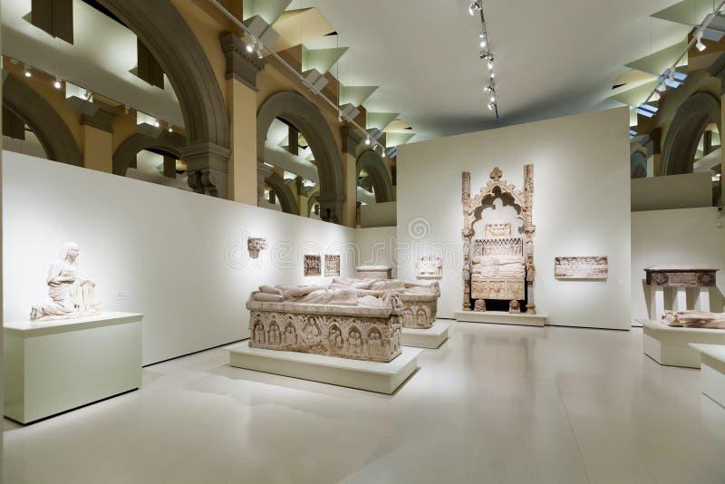 Tombes au hall gothique médiéval d'art image libre de droits