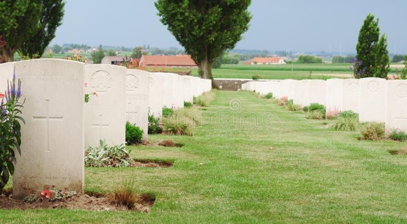 Tombes, cimetière de lit de camp de Tyne, Passchendaele image libre de droits
