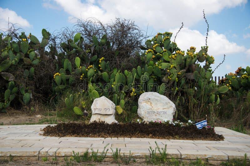 Tombes d'Ariel et de Lily Sharon, Negev, Israël photos libres de droits