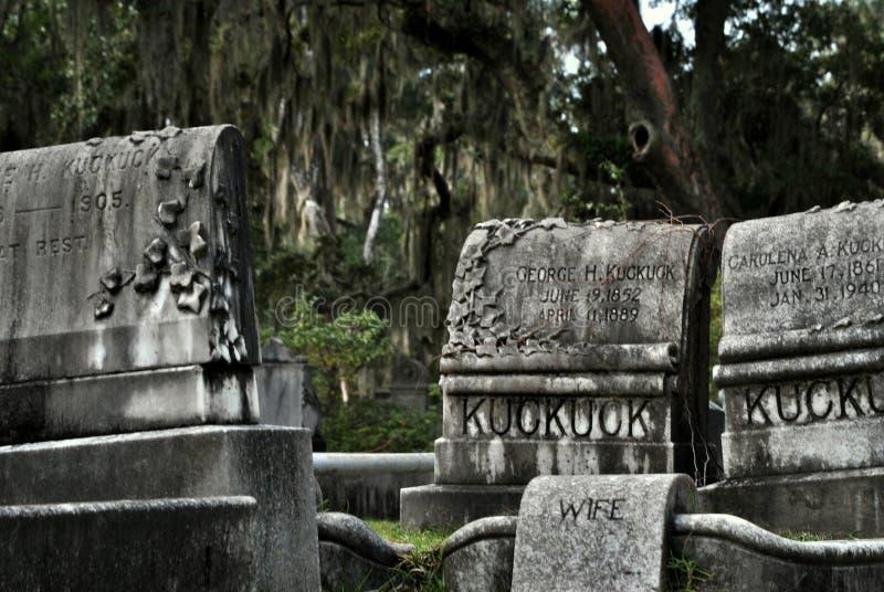 Tombes de Bonaventure Cemetery photo stock