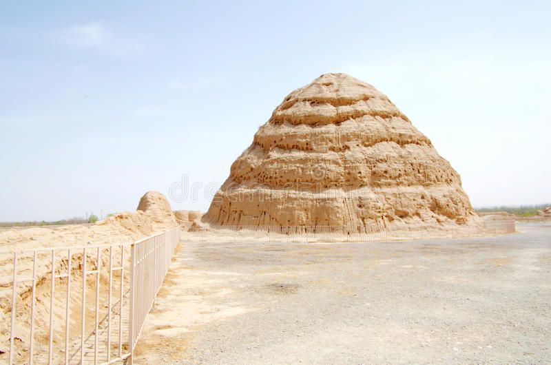 Tombes occidentales de Xia photos libres de droits