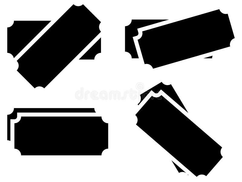 Tombolabiljettsymboler Uppsättning av version 4 vektor illustrationer