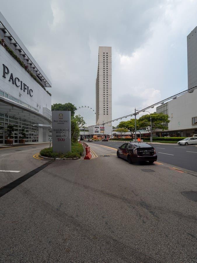 Tombolaboulevard, Singapore royaltyfri bild