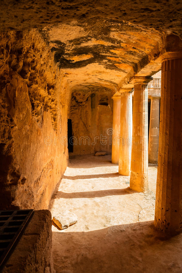 Tombs of the Kings in Cyprus. Archaeological park Tombs of the Kings in Paphos, Cyprus stock photography