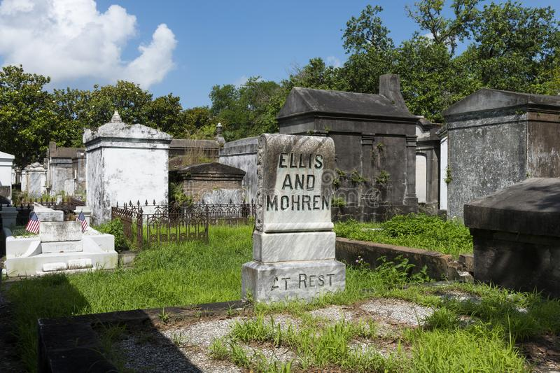 Tombs at the Lafayette Cemetery No. 1 in the city of New Orleans, Louisiana royalty free stock photos