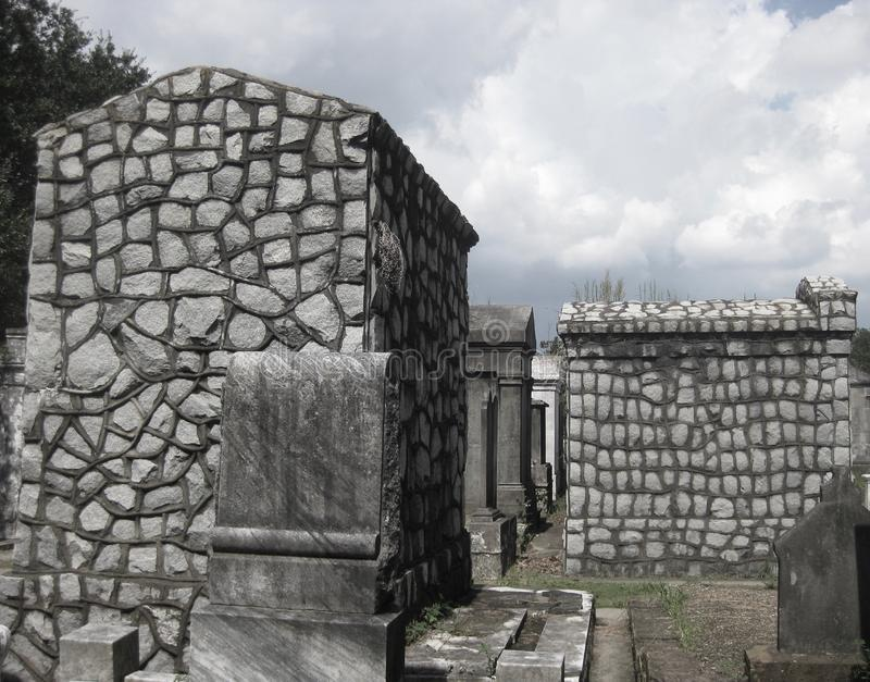 Tombs in Lafayette Cemetery No. 1 in the Garden District of New Orleans royalty free stock photos