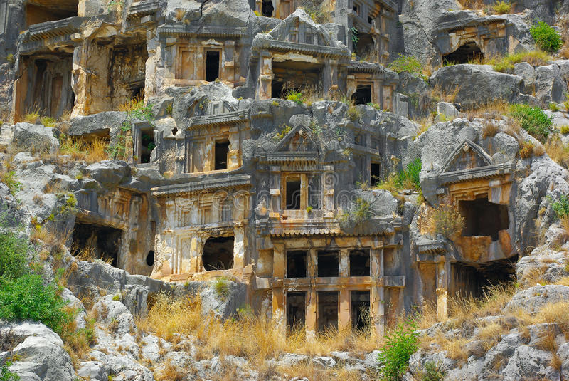 Download Tombs in Myra stock photo. Image of antique, architecture - 25469564