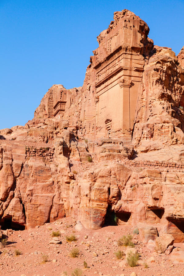 Download Tombs of Petra stock photo. Image of amphitheater, nobody - 31180342