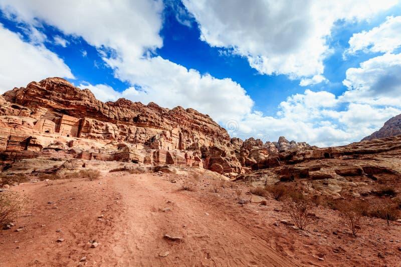 Download Tombs of Petra stock image. Image of clouds, cave, petra - 35035009