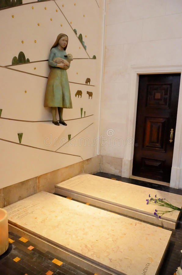 Tombs of the shepherds of Fatima royalty free stock images