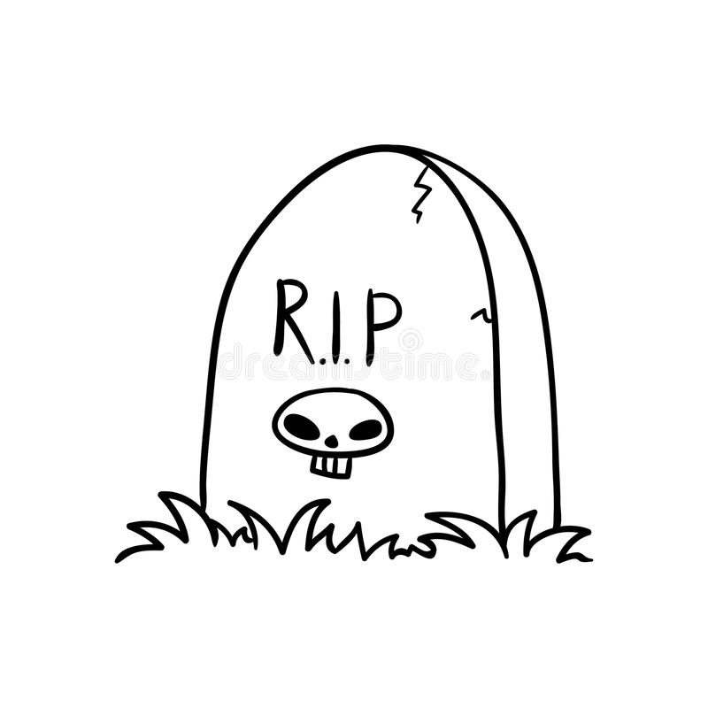 tombstone ilustração stock