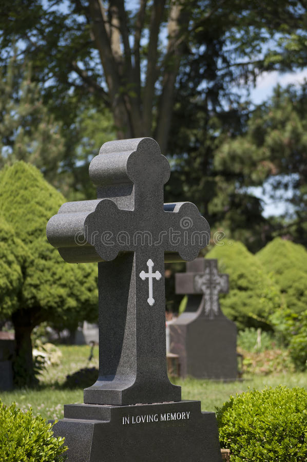 Download Tombstone in a Cemetery stock photo. Image of peace, religion - 25456316