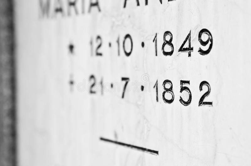 Download Tombstone with dates stock photo. Image of memorial, birthday - 24648798