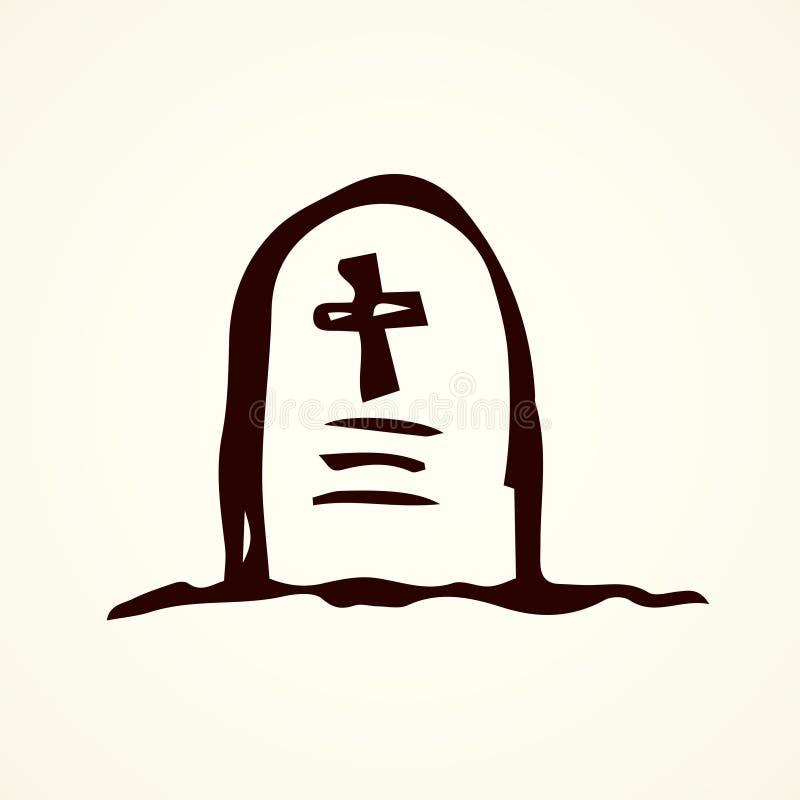 tombstone Desenho do vetor ilustração do vetor