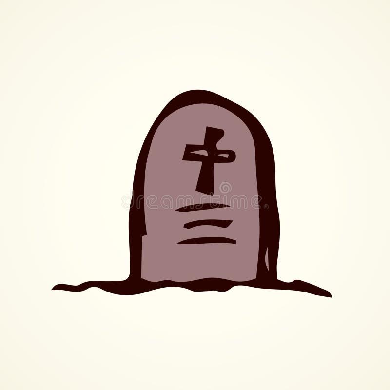 tombstone Desenho do vetor ilustração royalty free