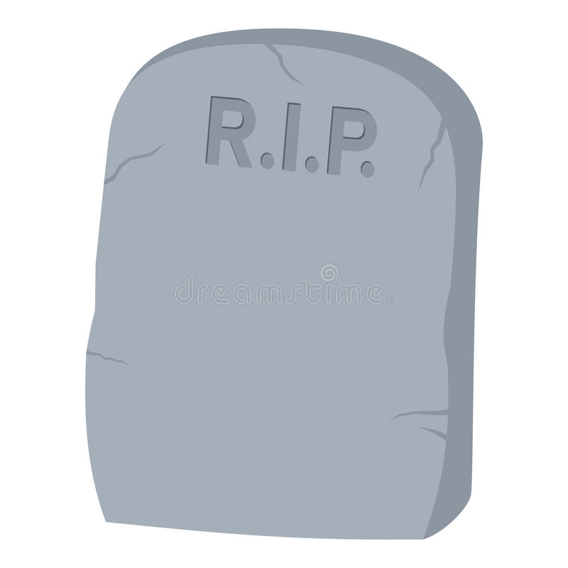 Tombstone Flat Icon Isolated on White vector illustration