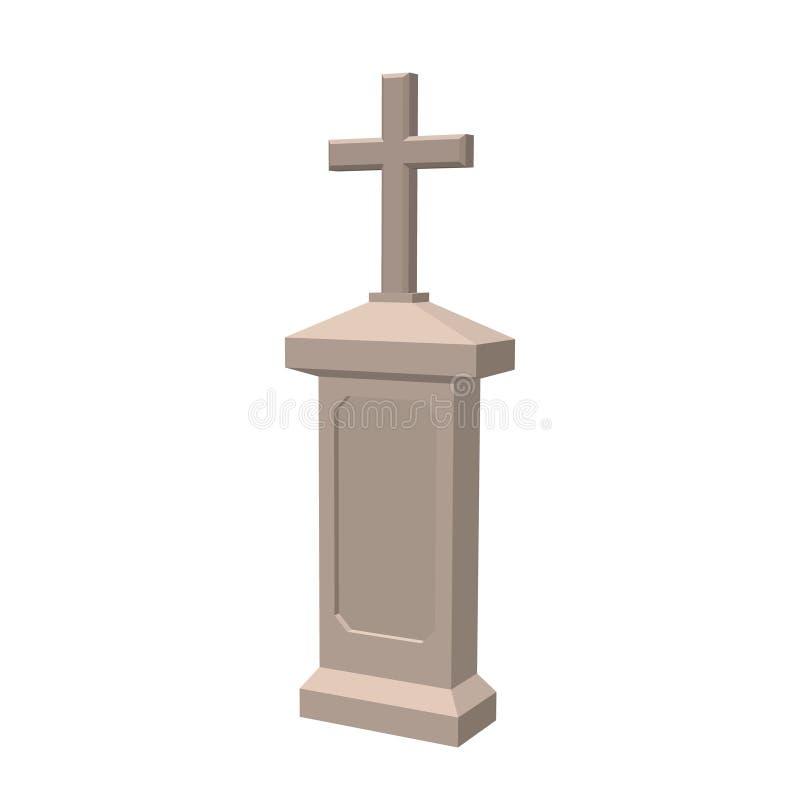 tombstone Isolado no fundo branco ilustração do vetor 3d ilustração do vetor