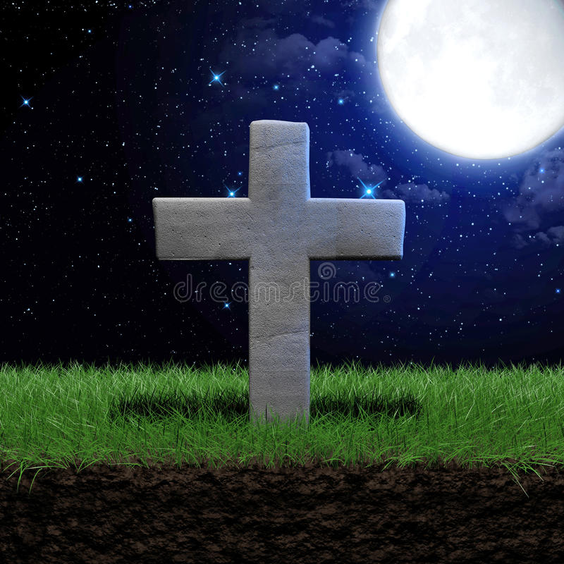 grass field at night. Download Tombstone At Night Stock Illustration. Illustration Of Grave - 91689988 Grass Field E