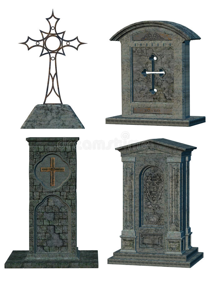 Download Tombstones stock illustration. Image of gothic, tombstone - 13429682