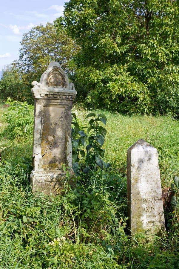 Tombstones royalty free stock photo