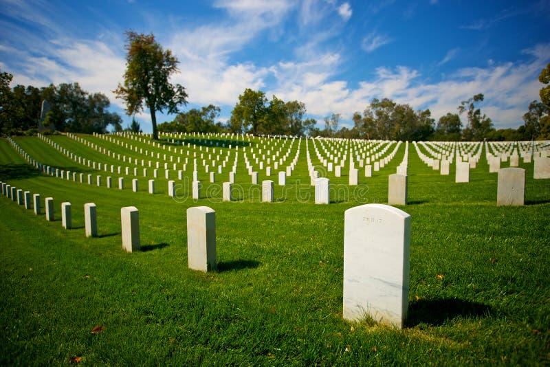 tombstones för national för kyrkogårdlamarkörer royaltyfri foto