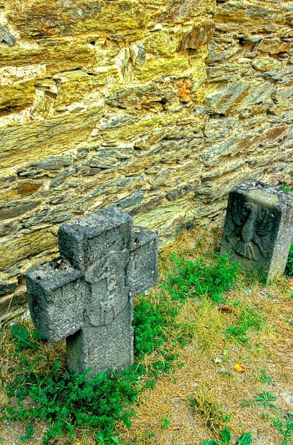 Tombstones In German Castle Stock Photos