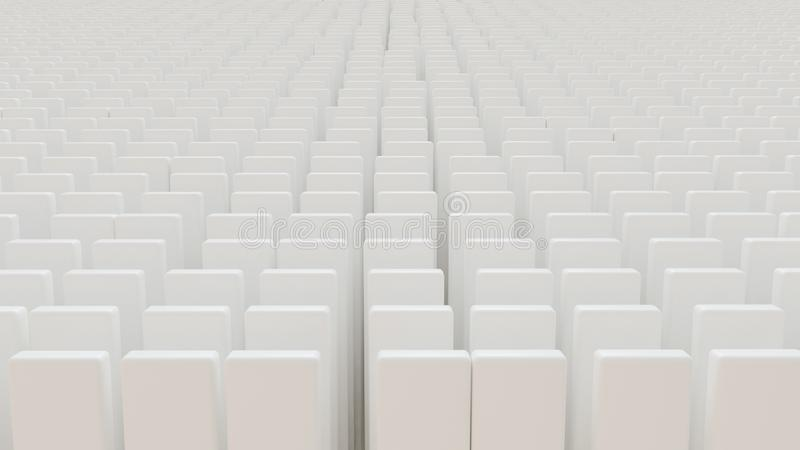 Tombstones with white abstract stones - 3D rendering. Tombstones with white abstract stones -- 3D rendering vector illustration