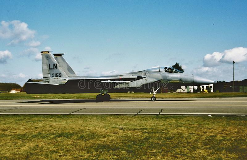Tomcat USAF McDonnell Douglas F-15A на Lakenheath стоковое изображение rf