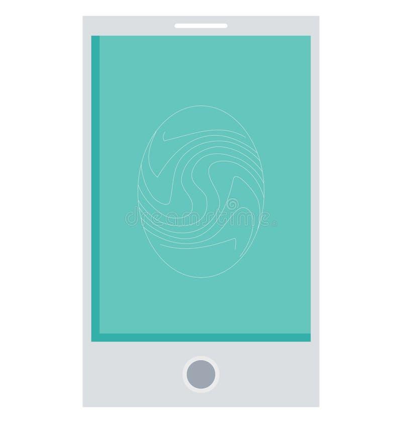 Tome as impressões digitais o ícone isolado cor do vetor que facilmente pode ser alterado e editado ilustração stock