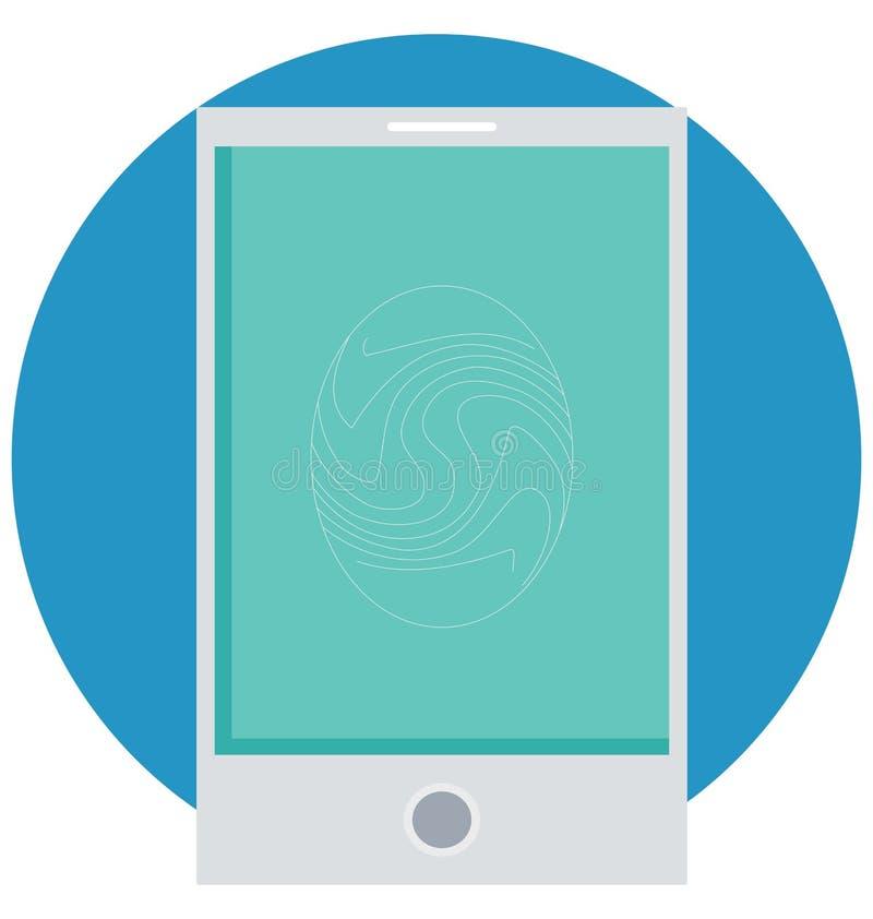Tome as impressões digitais o ícone isolado cor do vetor que facilmente pode ser alterado e editado ilustração do vetor