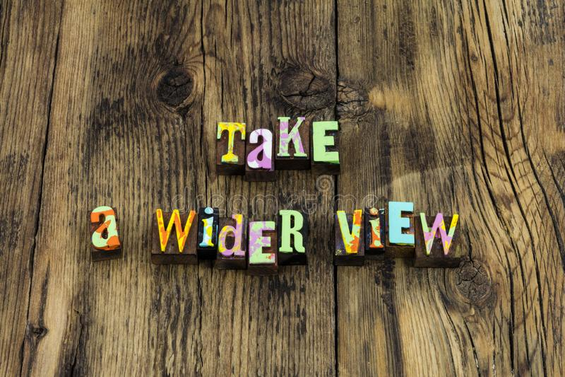 Tome el estudio amplio de la visión aprenden ayuda de la ventaja para enseñar fotos de archivo