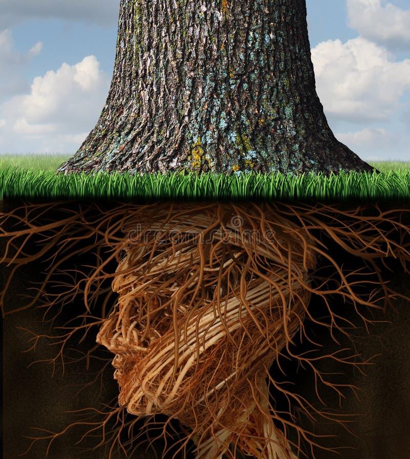 Tome la raíz stock de ilustración