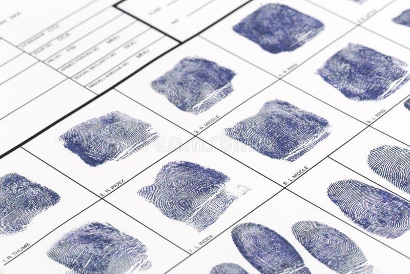 Tome las huellas dactilares la tarjeta fotografía de archivo libre de regalías