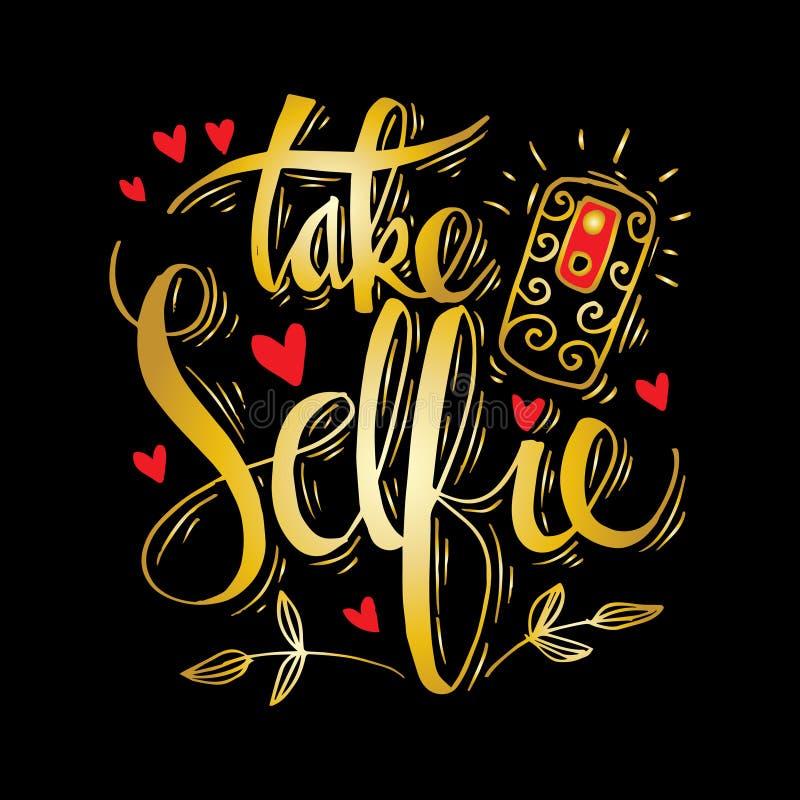 Tome las letras de la mano de Selfie libre illustration