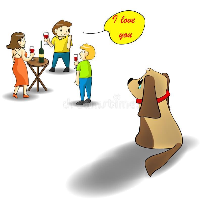 Tome por favor el cuidado de su pequeño perrito libre illustration