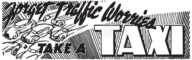 Tome um táxi ilustração do vetor