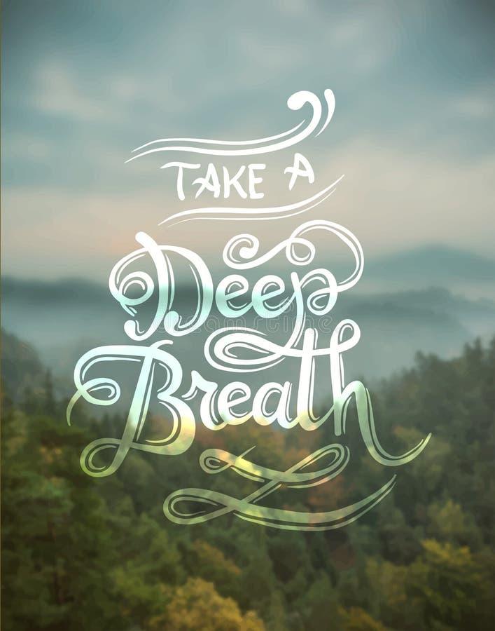 Tome um vetor da respiração profunda ilustração do vetor