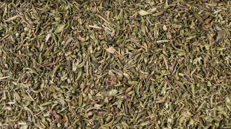 Tomillo Herb Background Textura de aderezo natural Ingredientes naturales del especia y alimentarios foto de archivo libre de regalías