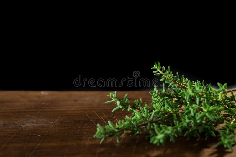 Tomillo orgánico fresco foto de archivo libre de regalías