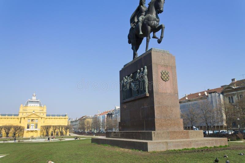 Tomislav广场萨格勒布 库存图片