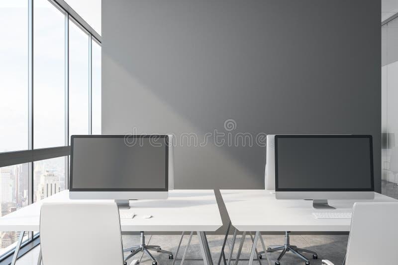 Tomma datorskärmar stock illustrationer