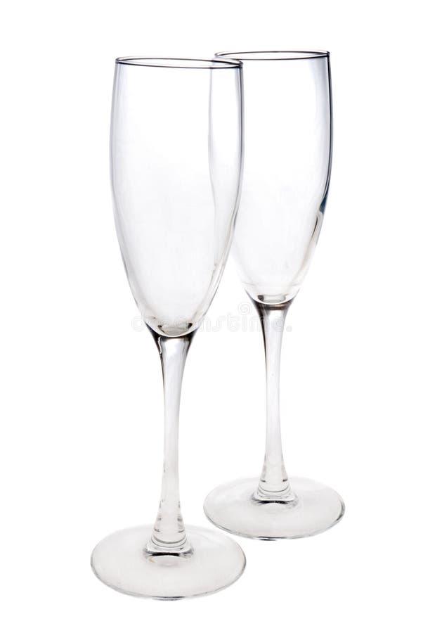 tomma exponeringsglaspar för champagne royaltyfri foto
