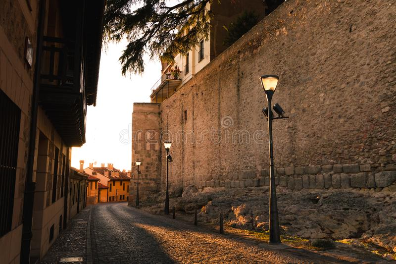 Tomma gator av Segovia royaltyfria foton