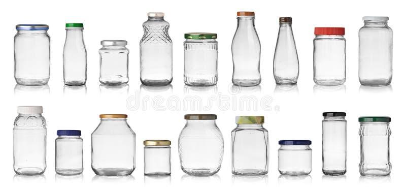 tomma jars fotografering för bildbyråer
