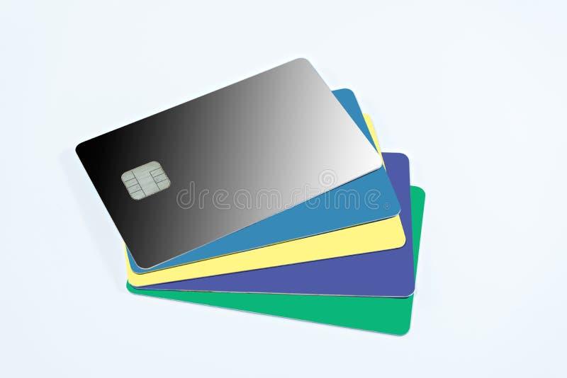 Tomma kreditkortar på isolerat royaltyfri illustrationer
