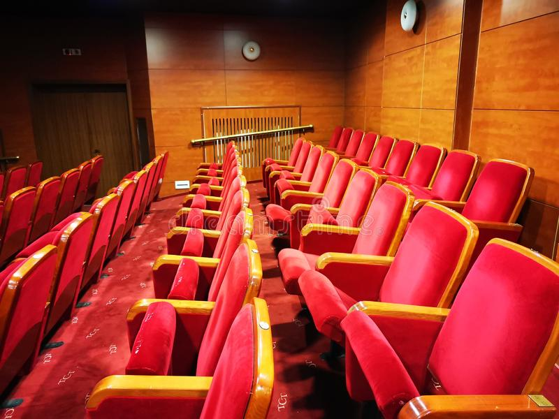 Tomma platser i teatern royaltyfria foton
