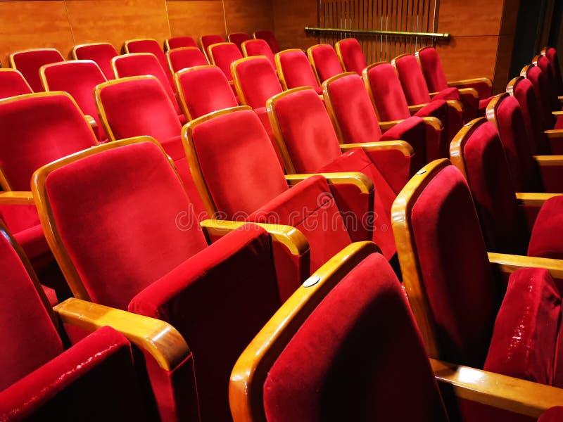 Tomma platser i teatern royaltyfri foto