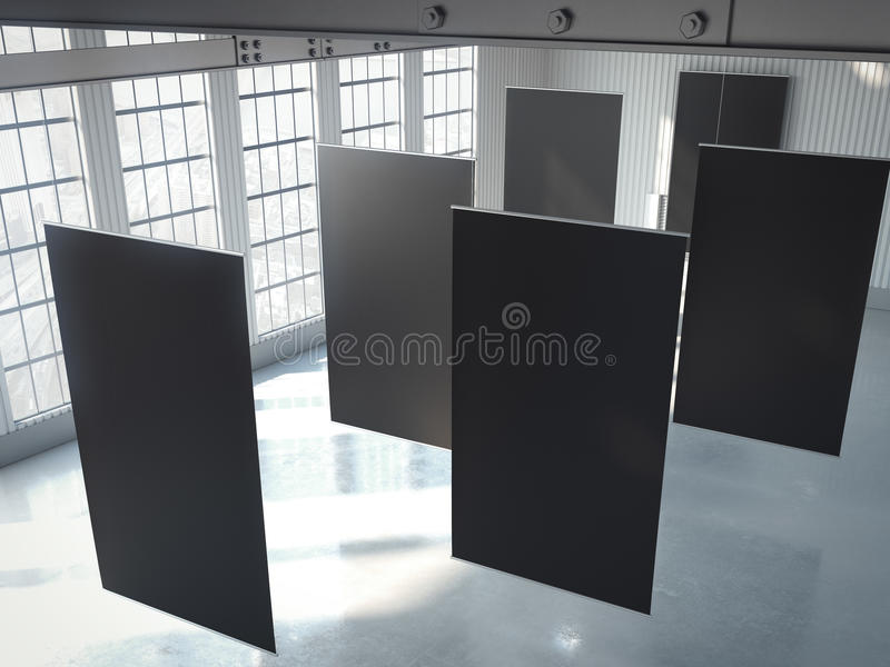Download Tomma Svarta Baner I Hangar Framförande 3d Fotografering för Bildbyråer - Bild av konstruktion, brigham: 76704219