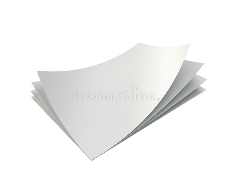 Tomma vita ark för bunt av papper A4 royaltyfri bild